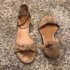 JCrew suede sandal